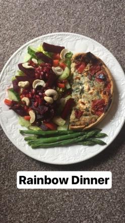 salad and quiche